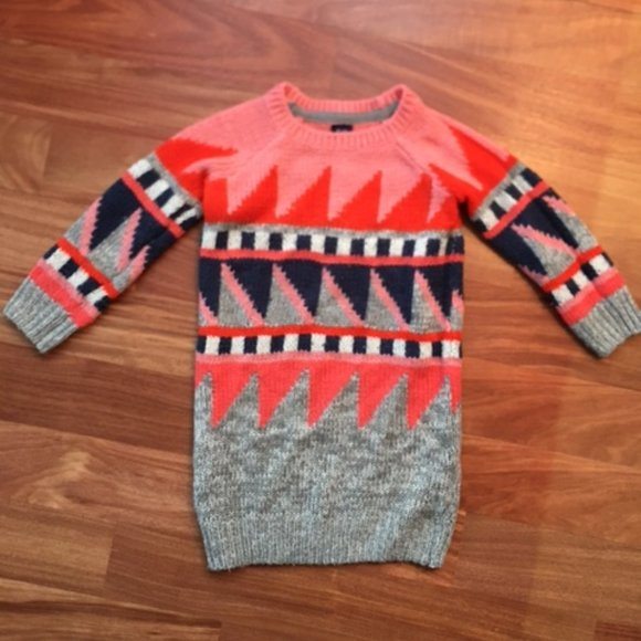 GAP Geometric Print Children's Sweater Dress